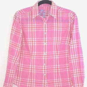 J. McLaughlin Cotton Plaid Button Down Shirt